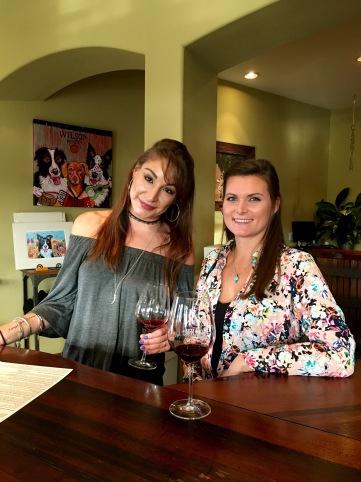 Wine tasting w Binny Bear