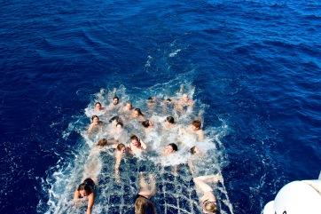 Rian on the Reef net LOL