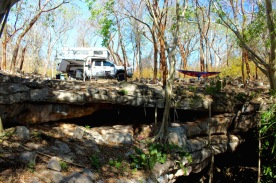 Camping above cenote