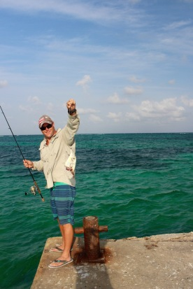Huge barracuda stole the fish!