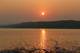 So hazy and red from farmers burning land